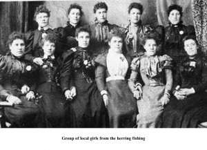Group of local girls from the herring fishing