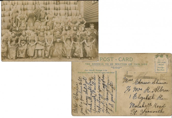 Chrissie postcard from herring fishing 2