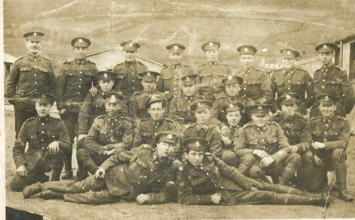 fife and forfar yeomanry ww1 finlay macleod, back second left, as viewer looks