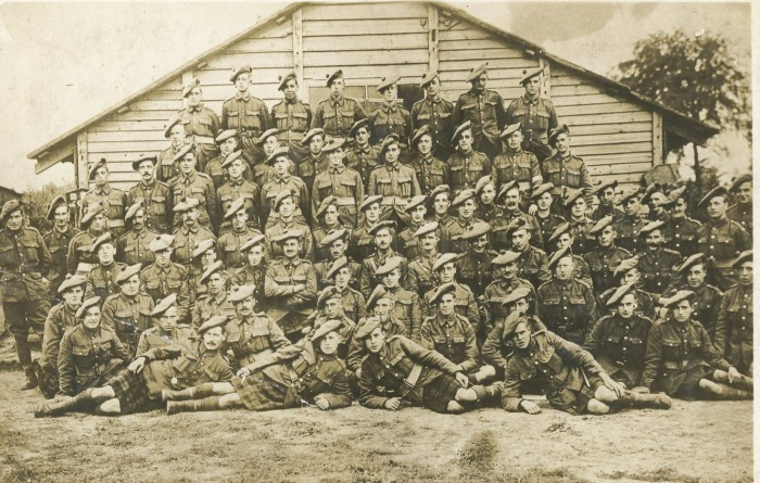 14th batt black watch,finlay macleod. 4th row from back,3rd in from right