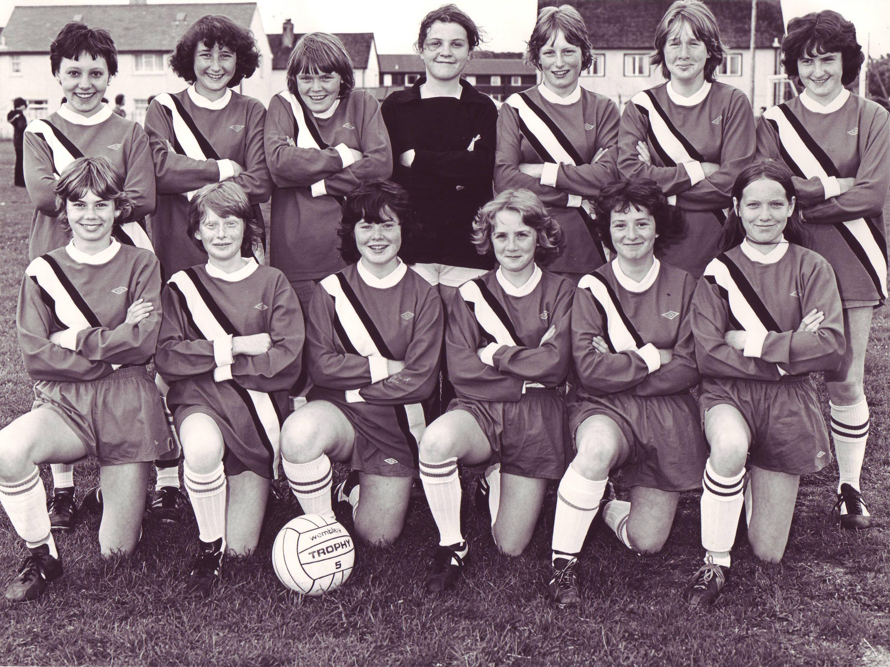 Balintore Ladies Football Team, early 1980's.