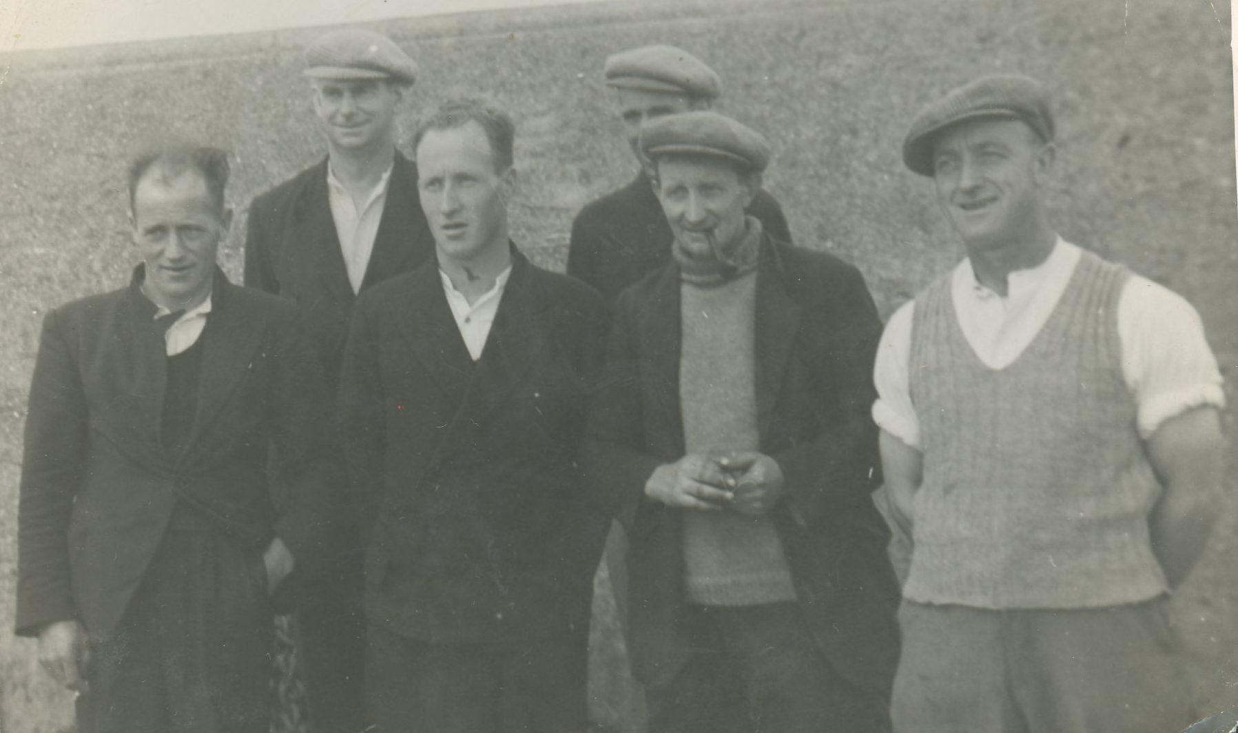 Salmon fishermen at the harbour
